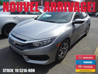 Used 2016 Honda Civic Lx+siegchauff+regvit for sale in Drummondville, QC