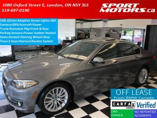 Used 2015 BMW 5 Series 528i xDrive+GPS+360 Camera+Sensors+Xenons+Leather for sale in London, ON