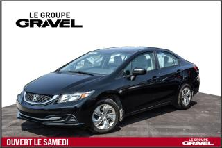 Used 2014 Honda Civic LX - BLUETOOTH - SIEGES CHAUFF - CRUISE - for sale in Ile-des-Soeurs, QC