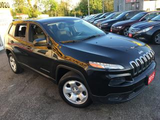 Used 2015 Jeep Cherokee Sport/ AUTO/ REVERSE CAM/ BLUETOOTH/ LOADED! for sale in Scarborough, ON