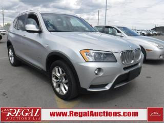 Used 2013 BMW X3 XDRIVE28I 4D Utility 4WD for sale in Calgary, AB
