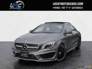 Used 2015 Mercedes-Benz CLA-Class CLA250 4MATIC AMG PKG-PANOROOF-LEDS-BACKUP CAM-NAV-BLINDSPOT for sale in North York, ON
