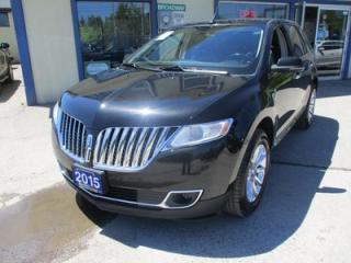 Used 2015 Lincoln MKX LOADED ALL-WHEEL DRIVE 5 PASSENGER 3.7L - V6.. LEATHER.. HEATED/AC SEATS.. NAVIGATION.. THX AUDIO.. DUAL SUNROOF.. BACK-UP CAMERA.. BLUETOOTH SYSTEM.. for sale in Bradford, ON