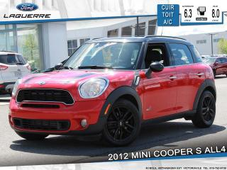 Used 2012 MINI Cooper S All4 Cuir Toit for sale in Victoriaville, QC