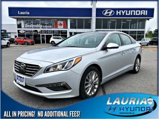 Used 2015 Hyundai Sonata Limited - Navigation / Leather for sale in Port Hope, ON