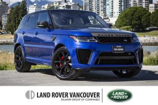 Used 2018 Land Rover Range Rover Sport V8 Supercharged SVR *Certified Pre-Owned! for sale in Vancouver, BC