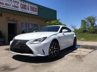 Used 2015 Lexus RC 350 $165.56 WEEKLY! $0 DOWN! F SPORT!! for sale in Bolton, ON