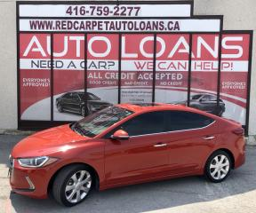 Used 2017 Hyundai Elantra Limited LIMITED-0% DOWN ALL CREDIT ACCEPTED for sale in Scarborough, ON
