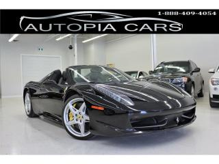 Used 2014 Ferrari 458 ITALIA SPIDER 562 HP DUAL CLUTCH TRANSMISSION NAVIGATION for sale in North York, ON