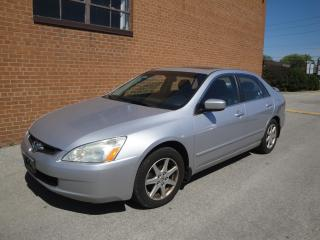Used 2004 Honda Accord EXL, V6, Leather, Sunroof, Alloys for sale in Oakville, ON