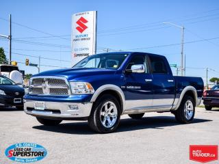 Used 2011 RAM 1500 Laramie Crew Cab 4x4 ~Nav ~Leather ~Power Moonroof for sale in Barrie, ON