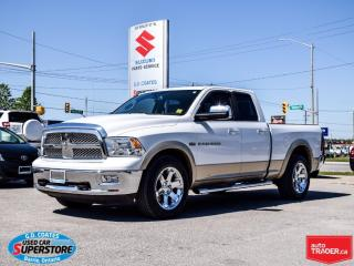 Used 2011 RAM 1500 Laramie Quad Cab 4x4 ~Nav ~Leather ~Power Moonroof for sale in Barrie, ON