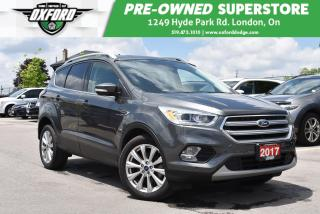 Used 2017 Ford Escape Titanium - Ecoboost, Roof Rack, GPS, UConnect/Blue for sale in London, ON