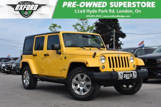 Used 2015 Jeep Wrangler Unlimited Sahara - Undercoated, Alpine 9 Speaker w/ Sub, GPS for sale in London, ON