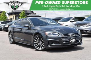 Used 2018 Audi A5 Low KMs, Fully Equipped, AWD, GPS, Sunroof for sale in London, ON