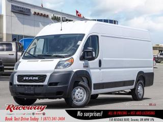 New 2019 RAM 3500 ProMaster 159 EXT High Roof|CRUISE CTRL|NAV|PARK CAMERA for sale in Etobicoke, ON