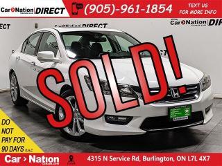 Used 2015 Honda Accord Touring| LEATHER| NAVI| SUNROOF| for sale in Burlington, ON