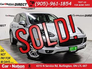 Used 2016 Porsche Cayenne | AWD| NAVI| PANO ROOF| LOCAL TRADE| for sale in Burlington, ON