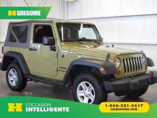 Used 2013 Jeep Wrangler SPORT AWD TOIT for sale in St-Léonard, QC