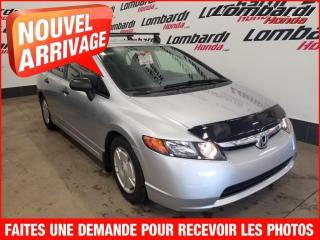 Used 2008 Honda Civic DX-G/JAMAIS ACCIDENTÉ for sale in Montréal, QC