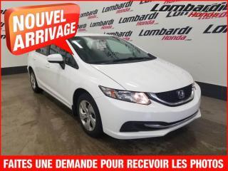 Used 2014 Honda Civic LX/auto./Aucun Accident for sale in Montréal, QC