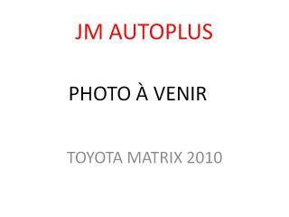 Used 2010 Toyota Matrix Familiale automatique 4 portes à tractio for sale in Québec, QC