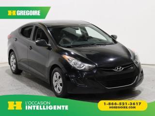 Used 2013 Hyundai Elantra L GR ELECT for sale in St-Léonard, QC