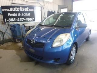 Used 2007 Toyota Yaris CE for sale in St-Raymond, QC
