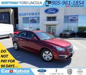 Used 2015 Chevrolet Cruze LT 1LT | BACKUP CAM | SUNROOF | TURBO | for sale in Brantford, ON