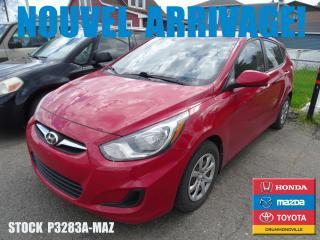 Used 2012 Hyundai Accent Gl|regvit|a/c|grélec for sale in Drummondville, QC