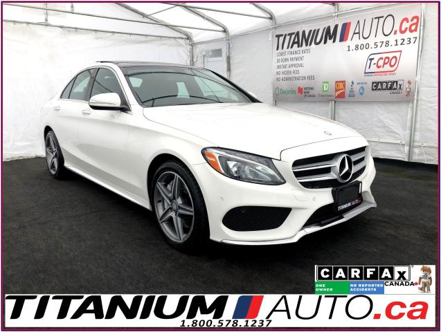 2015 Mercedes-Benz C-Class AMG PKG+4Matic+GPS+Camera+Pano Roof+Blind Spot