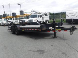 Used 2019 Big Tex Flatdeck 14et-20bk-kr Flat Deck trailer 14000 LB GVW with Ramp for sale in Burnaby, BC