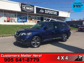 Used 2017 Nissan Pathfinder Platinum  AWD NAV 7-PASS DVD's ROOF CAM for sale in St. Catharines, ON