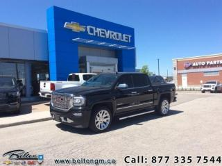 Used 2016 GMC Sierra 1500 Denali  - Leather Seats - Sunroof - $324.10 B/W for sale in Bolton, ON