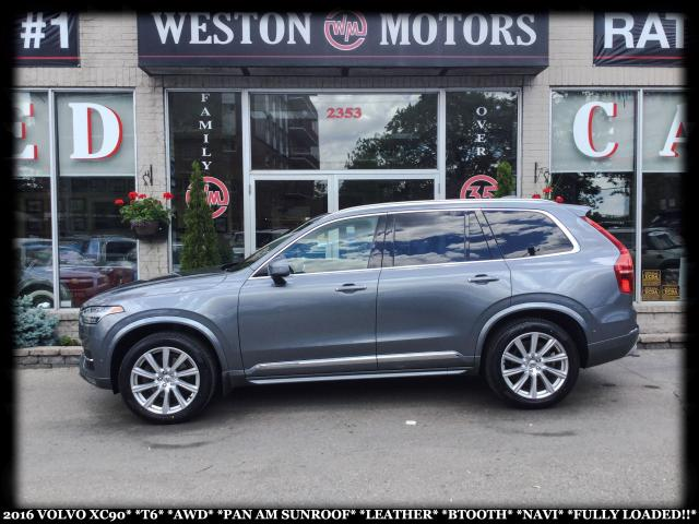 2016 Volvo XC90 T6*AWD*PAN AM SUNROOF*LEATHER**NAVI*FULLY LOADED!*