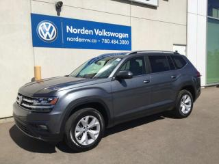 Used 2018 Volkswagen Atlas COMFORTLINE V6 4MOTION AWD - CERTIFIED / LEATHER + HEATED SEATS for sale in Edmonton, AB