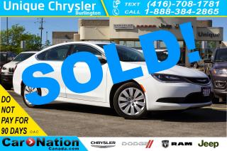Used 2015 Chrysler 200 LX| BLUETOOTH| UCONNECT 5.0| 9-SPEED AUTOMATIC for sale in Burlington, ON