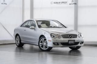 Used 2007 Mercedes-Benz CLK350 Coupe for sale in Langley, BC