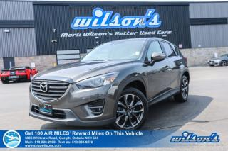 Used 2016 Mazda CX-5 GT AWD - Leather, Navigation, Sunroof, Blind Spot Monitor, Reverse Camera, Heated Seats, Alloys for sale in Guelph, ON