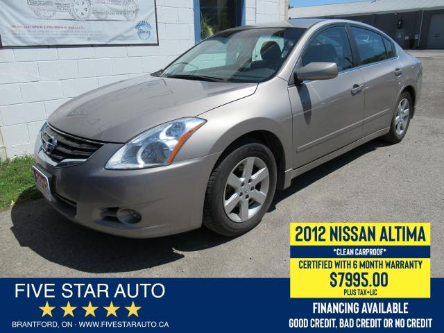 2012 Nissan Altima 2.5 *Clean Carproof* Certified w/ 6 Month Warranty