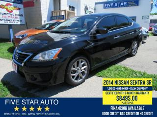 Used 2014 Nissan Sentra SR *1 Owner* Certified w/ 6 Month Warranty for sale in Brantford, ON