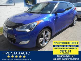 Used 2013 Hyundai Veloster *Clean Carproof + 1 Owner* Certified w/ Warranty for sale in Brantford, ON