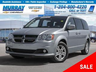 Used 2018 Dodge Grand Caravan Crew *Heated Leather Seats, Rear View Camera* for sale in Winnipeg, MB