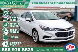 Used 2017 Chevrolet Cruze Premier w/Command Start, Leather for sale in Saskatoon, SK