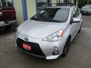Used 2014 Toyota Prius c LOADED HYBRID EDITION 5 PASSENGER 1.5L - HYBRID ENGINE.. ECO & EV MODE.. LEATHER.. HEATED SEATS.. BACK-UP CAMERA.. POWER SUNROOF.. TOUCH SCREEN.. for sale in Bradford, ON
