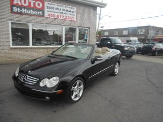 Used 2005 Mercedes-Benz CLK Convertible BAS KM !! NAVIGATION for sale in St-Hubert, QC