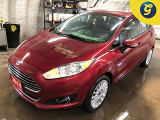 Used 2014 Ford Fiesta Titanium * Navigation * Leather Interior * Power Sunroof * Push Button Start * Ford Microsoft SYNC * Heated seats/mirrors * Phone connect * Voice reco for sale in Cambridge, ON