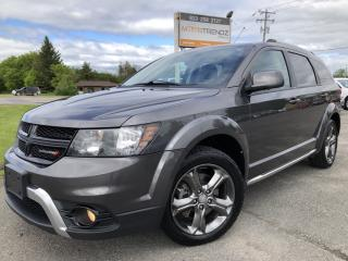 Used 2015 Dodge Journey Crossroad AWD 7 Passenger loaded with NAV, DVD, Leather, Sunroof, Heated Steering and Seats plus AUTOSTART and for sale in Kemptville, ON