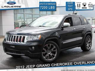 Used 2012 Jeep Grand Cherokee OVERLAND 4X4 CUIR for sale in Victoriaville, QC
