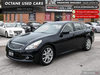 Used 2010 Infiniti G37 X Sport s Accident Free! Ontario Vehicle! for sale in Scarborough, ON